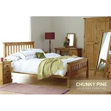 chunky pine kingsize bed frame furniture123