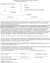 oregon divorce papers download free u0026 premium templates forms