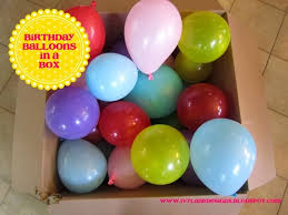 balloons in a box designs birthday balloons in a box