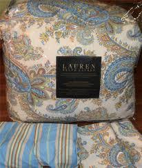 Ralph Lauren Comforter Set Ralph Lauren Blue Putney Paisley King Comforter 4pc Set Ebay