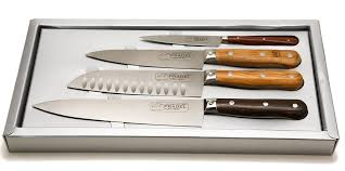 kitchen knive set jean dubost 4 kitchen knives set mixed woods in gift box