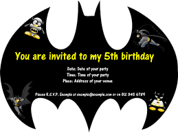 Birthday Invitation Card Download Charming Batman Birthday Invitation Cards 27 For Your Marriage