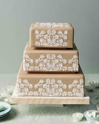 quilted wedding cakes martha stewart weddings