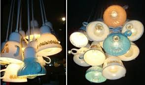 Tea Cup Chandelier 10 Recycling Light Designs