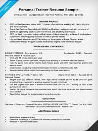 Training Resume Examples by Personal Trainer Resume Sample U0026 Writing Tips Resume Companion