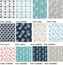 Nautical Valance Curtains 24x24 Or 26x26 Sham You Choose Fabric By Furniturefrosting