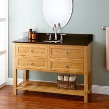 Slim Bathroom Vanity by Depth Taren Bamboo Vanity For Undermount Sink Bathroom Vanities