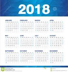 Kalender 2018 Helgdagar Den Enkla Kalendern För 2018 år Vecka Startar Söndag Vektor