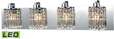Elk Bathroom Lighting Elk 11238 4 Led Optix Polished Chrome Led 4 Light Bathroom