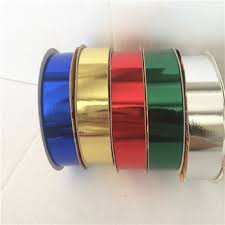 plastic ribbon outdoor christmas metallic finish poly plastic ribbon roll