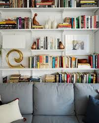 Shelves Bookcases Cup Of Jo Makeover The Living Dining Room Shelves Shelves And