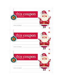 santa coupon free coupon ticket template by hloom com gift