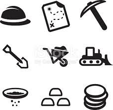 gold rush icons stock vector art 490824494 istock