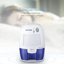 deshumidificateur silencieux pour chambre déshumidificateur d air pictek mini deshumidificateur d air electriq