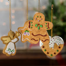 gingerbread ornaments faux gingerbread cookie ornaments christmas ornaments