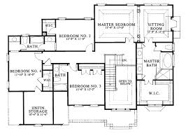 colonial floor plans colonial style house plan 4 beds 3 5 baths 3200 sq ft plan 429