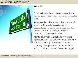 cover letter referral referral cover letter sample my document