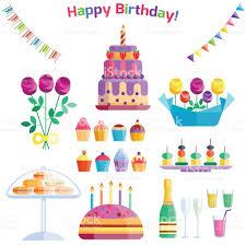 party icons celebration happy birthday surprise decoration