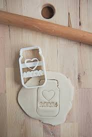 wedding cookie cutters custom wedding date jar cookie cutter 3d by printsicle