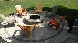 lava rocks for fire pit this hardscape outdoor living space in lewis center oh has all