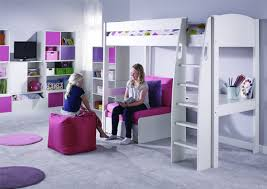High Sleeper With Sofa Stompa Unos High Sleeper Frame With Desk And Chair Bed Only Boys