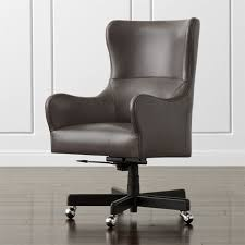 Leather Rolling Chair Clever Design Ideas Wingback Office Chair Beautiful Leather