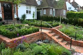 colonial house with brick exterior for home garden idea also