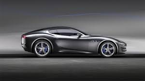 maserati black 4 door alfieri concept car
