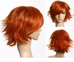 pictures of short layered hairstyles that flip out hot heat resistant party hair red orange short hair layered flip