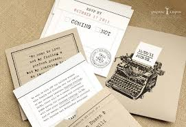 Kraft Paper Wedding Invitations Paper Wedding Invitations Vintage Typewriter