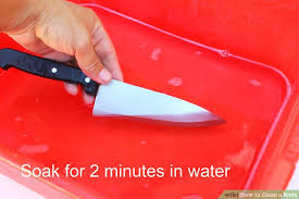 how to dispose of kitchen knives 3 ways to clean a knife wikihow