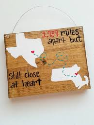 best friends long distance family wood sign 5x7 state gift home