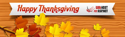 to celebrate thanksgiving day webhostforasp net is giving out 40