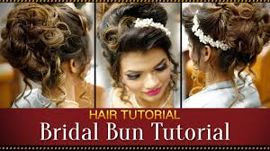 bridal hairstyle latest step by step indian bridal bun hairstyle tutorial video bridal
