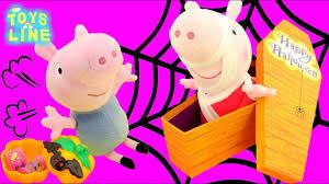Halloween Costumes Peppa Pig Peppa Pig Halloween Costume Mummy Scares George Coffin Box