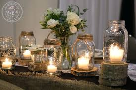 jar table decorations decorations with jars for a wedding thejeanhanger co