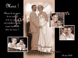 faire part de remerciement mariage mariage carte remerciement pour photo mariage
