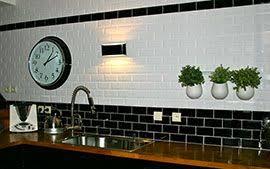 cuisine carrelage metro amusant carrelage metro noir cuisine design paysage appartement