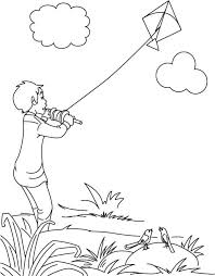 coloring pages of independence day of india a boy flying kite on independence day of india download free a boy