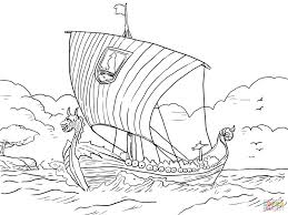 longship viking sea vessel coloring page free printable coloring