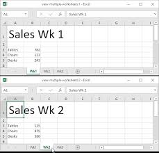 view multiple worksheets in excel easy excel tutorial
