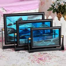 15 x 10cm rectangle type 3d moving sandglass sand picture frame