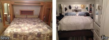 Bedroom Remodels Pictures by Amazing Fifth Wheel Remodel On A Shoestring Budget Of 650