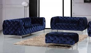 meridian furniture mercer 646navy s 2pc modern tufted navy velvet
