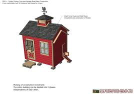 Red Barn Plans Home Garden Plans Cb211 Combo Chicken Coop Garden Shed Plans