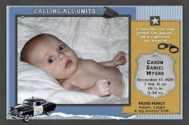 baby announcements policeman birth announcements