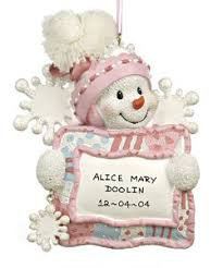 christmas ornaments baby baby s christmas ornaments from the ornamentshop