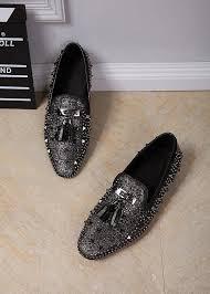 luxury brand design boat shoes mens slip on genuine leather men