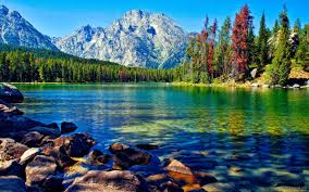 awesome lake with mountain wallpaper for desktop u2013 background