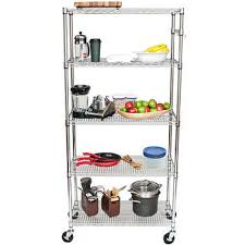 Bakers Rack With Wheels Storage Shelves Costco